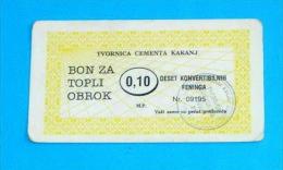 TVORNICA CEMENTA KAKANJ ( Bosnia And Herzegovina ) Coupon Voucher Bon Buono Vale Gutscheine Vouchers Coupons Bons Buoni - Bosnia And Herzegovina
