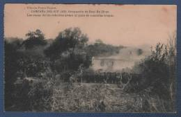 MILITARES - CP CAMPAÑA DEL RIF 1921 - OCUPACION DE BENI BU IFRUR - LAS CASAS DE LOS REBELDES ARDEN AL PASO DE NUESTRAS - Otras Guerras