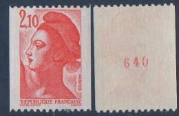 LOT DE 5 TIMBRES LIBERTE N° 2322a Roulette Avec Numéro Rouge Au Dos ( 1 Timbre Cote: 2.30 € ) - Unused Stamps