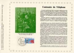 """FRANCE 1975 : P.A.C. RARE  (1500 Ex.) """" 100 ANS DU TELEPHONE"""" N° YT 1905. En PARFAIT état . - Telecom"""