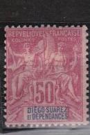 Diego-Suarez   N°35* Neuf Avec Charniere - Diégo-Suarez (1890-1898)