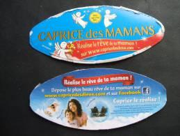Etiquette Couvercle Fromage CAPRICE DES MAMANS (des Dieux) + Contre-étiquette (petit Format) - Fromage