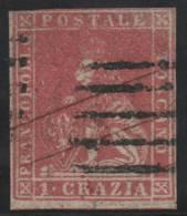 ITALIA 1857 (TOSCANA) - Yvert #12 - VFU - Toscane