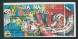 Biglietto LOTTERIA  DEL  CARNEVALE   -  Anno 1993.-  Estraz.  23 Febbraio 1993. - Billets De Loterie