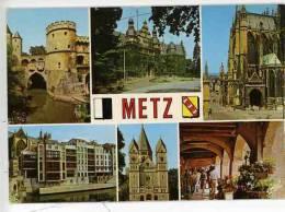 Metz Multivues Porte Allemands Hotel Gouverneur Cathedrale Moselle Temple Arcades Place St Louis - Metz