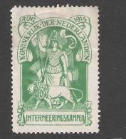 Nederland Internering 1 Franchise 1 Internment 1 * Hinged  WW-1 - 1891-1948 (Wilhelmine)