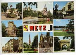Metz Multivues Théatre Hotel Temple Moselle Porte Allemands Serpenoiplan D'eau Place St Louis église Garnison Cathédrale - Metz