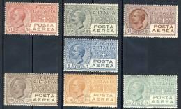 Regno 1926-28 Posta Aerea, Serie 1500, N. 2-7 Effige VE3 MNH, Quattro Centratissimi, Cat. € 450 - 1900-44 Victor Emmanuel III.