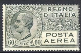 Regno 1926-28 Posta Aerea, Serie 1500, N. 3 C. 60 Grigio MNH Cat. € 15 - 1900-44 Victor Emmanuel III.