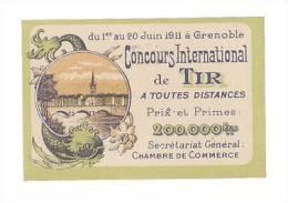 VIGNETTE CONCOURS INTERNATIONAL DE TIR GRENOBLE 1911 - Commemorative Labels