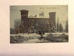 Cartolina TORINO PALAZZO MADAMA VIAGGIATA DEL 1909 (particolare Neve) OTTIMO STATO - Palazzo Madama