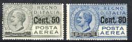 Regno VE3, 1927 Posta Aerea, Sassone Serie 1501, N. 7-8 MNH  Cat. € 250 - 1900-44 Victor Emmanuel III.