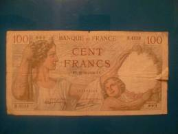 100 Fr Sully  Du 16/11/39 - 1871-1952 Circulated During XXth