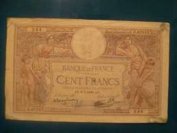 100 Fr Merson Du 6/7/39 - 1871-1952 Circulated During XXth