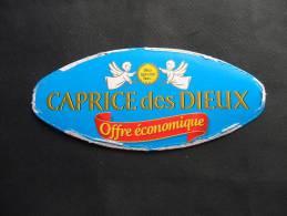 Etiquette Couvercle Fromage CAPRICE DES DIEUX Offre économique (petit Format) - Fromage