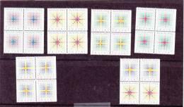 Nederland NVPH 1391-95 Yv 1301-5 December Zegels Blokken Van 4 Block Of 4  ** MNH - 1980-... (Beatrix)