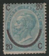 ITALIA 1865 - Yvert #22b (tipo I) - MLH * (Very Rare!) - Nuevos