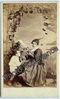 Photo Cdv XIX Femme Enfant Métier Fileuse Women Child 1870 MADEIRA Madère Portugal - Oud (voor 1900)