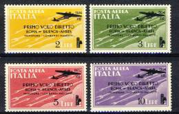 Regno VE3, 1934 PA Serie 1511n. 56-59 Volo Roma-Buenos Aires MNH Cat. € 125 - 1900-44 Victor Emmanuel III.