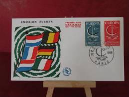FDC - Europa CEPT - Paris - 24.9.1966 - 1er Jour - Europa-CEPT