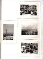 4 Photos Originales De LYON (69) Fontaine Des Terreaux (Bartholdi) - Antenne Radio De Fourvière - Luoghi