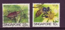 Singapoure YV 456; 459 O 2003 Abeille Donecia - Bienen
