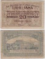 SLOVENIA DEZELNO GLAVNO MESTO LJUBLJANA 20 VINARJEV 1919 - Slovénie