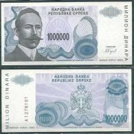 BOSNIA-HERZEGOVINA (SERBIAN REPUBLIC) BANJA LUKA 1993 1000000 DINARA P152 UNC -G - Bosnia Y Herzegovina