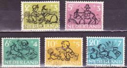 1952 Kinderzegels Gestempelde Serie  NVPH 596 / 600 - 1949-1980 (Juliana)