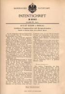 Original Patentschrift - A. Boehm In Breslau , 1894 , Flugmaschine , Luftschiff , Segelflug , Segler , Flugzeug !!! - Fliegerei