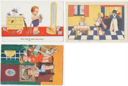 4 Cards Nederland 1930's JOHN WILLS + HENNY BOX + Unsigned - Zonder Classificatie
