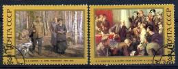 **6** - Russia & URSS 1987-117° Anniversario Della Nascita Di Lenin. Quadri - 2 Val. Oblit. - Belli - 1923-1991 USSR