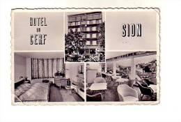 SION    HOTEL DU CERF      RUE DE LAUSANNE - VS Valais