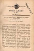 Original Patentschrift - Büsscher & Hoffmann In Eberswalde , 1895 , Holz - Cementdach , Dach , Architekt , Dachdecker !! - Architektur