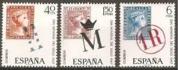 ESPAÑA 1967 - DIA DEL SELLO - Edifil Nº 1798-1800 - Yvert 1451-1453 - Timbres Sur Timbres