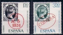 ESPAÑA 1969 - DIA DEL SELLO - EDIFIL Nº 1922/1923 - YVERT 1573-1574 - Timbres Sur Timbres