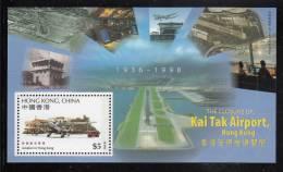 Hong Kong MNH Scott #815a Souvenir Sheet $5 Closure Of Kai Tak Airport - Airplanes - Neufs