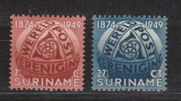 Suriname 278-279 MNH ; Wereldpostvereniging, World Post Organisation 1949 - Surinam ... - 1975