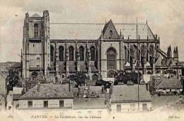CPA 44 NANTES LA CATHEDRALE VUE DU CHATEAU - Nantes