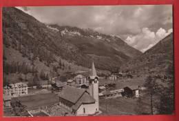 YSA-43 Saas-Almagell Mit Kirche, Friedhof U. Hotels Monte Moro U. Portjengrat.   Gelaufen.   Gyger 7417 - VS Valais