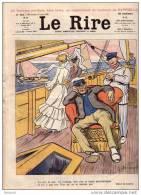 REVUE LE RIRE - AOUT 1902 - N° 404  - VOILIER - BATEAU - ILLUSTREE PAR JEANNIOT - GUYDO + SUP CAPPIELLO ... - Livres, BD, Revues