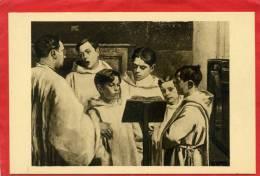 CHARTRES LES PETITS CHANTEURS DE SAINT PIERRE DE CHARTRES TABLEAU DE PIERRE VAILLANT CARTE EN TRES BON ETAT - Chartres
