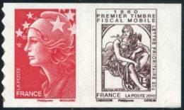 507  150 Ans Du Timbre Fiscal Cabasson + Marianne De BEAUJARD  La Paire Neuf  **  2010 D - Adhésifs (autocollants)