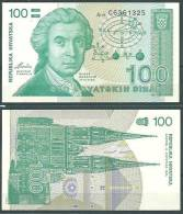 CROATIA 1991 100 DINARA UNC P20 -G - Croatia