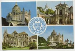 14 - LISIEUX - La Basilique - Vue Du Carmel Et Facade Ouest Cathédrale St Pierre, Chapelle De La Famille Martin - Lisieux
