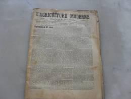 L'Agriculture  Moderne  N° 235 1er Juillet 1900 - Journaux - Quotidiens
