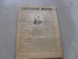 L´Agriculture  Moderne  N° 202 12 Novembre  1899 - Journaux - Quotidiens
