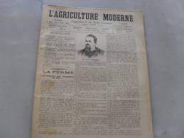 L´Agriculture  Moderne  N° 199  22 Octobre   1899 - Journaux - Quotidiens