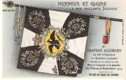 """Guerre 1914-1918-Drapeau Allemand -Croix De Fer-pris à La Bataille De L´Ourcq-cachet """"Inter Arma Caritas (voir Scan) - Oorlog 1914-18"""