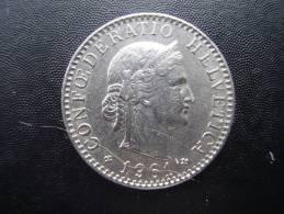 SWITZERLAND 1961 B  TWENTY  RAPPEN Copper-nickel USED COIN In  GOOD CONDITION. - Suiza